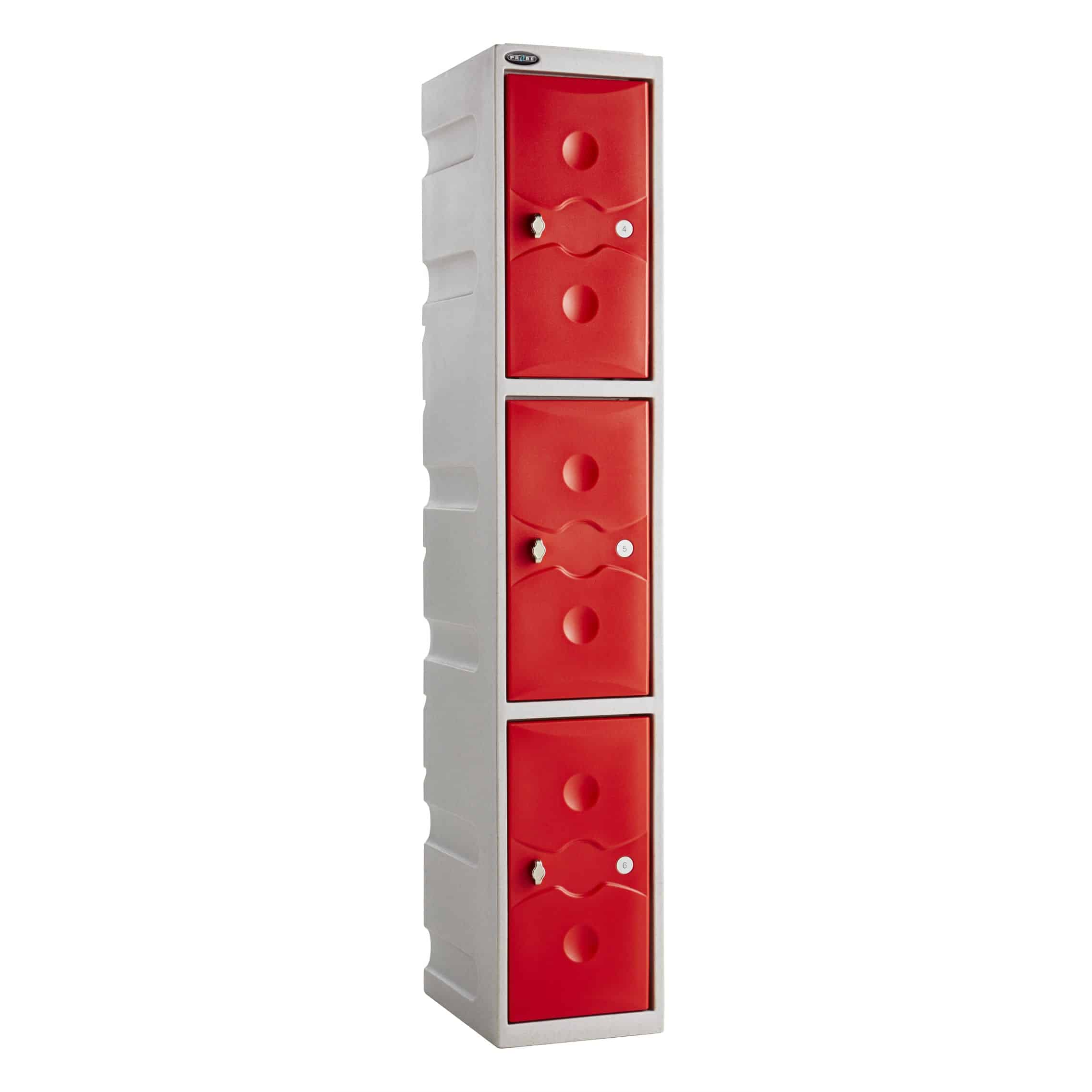 Plastic Waterproof 3 Door Lockers