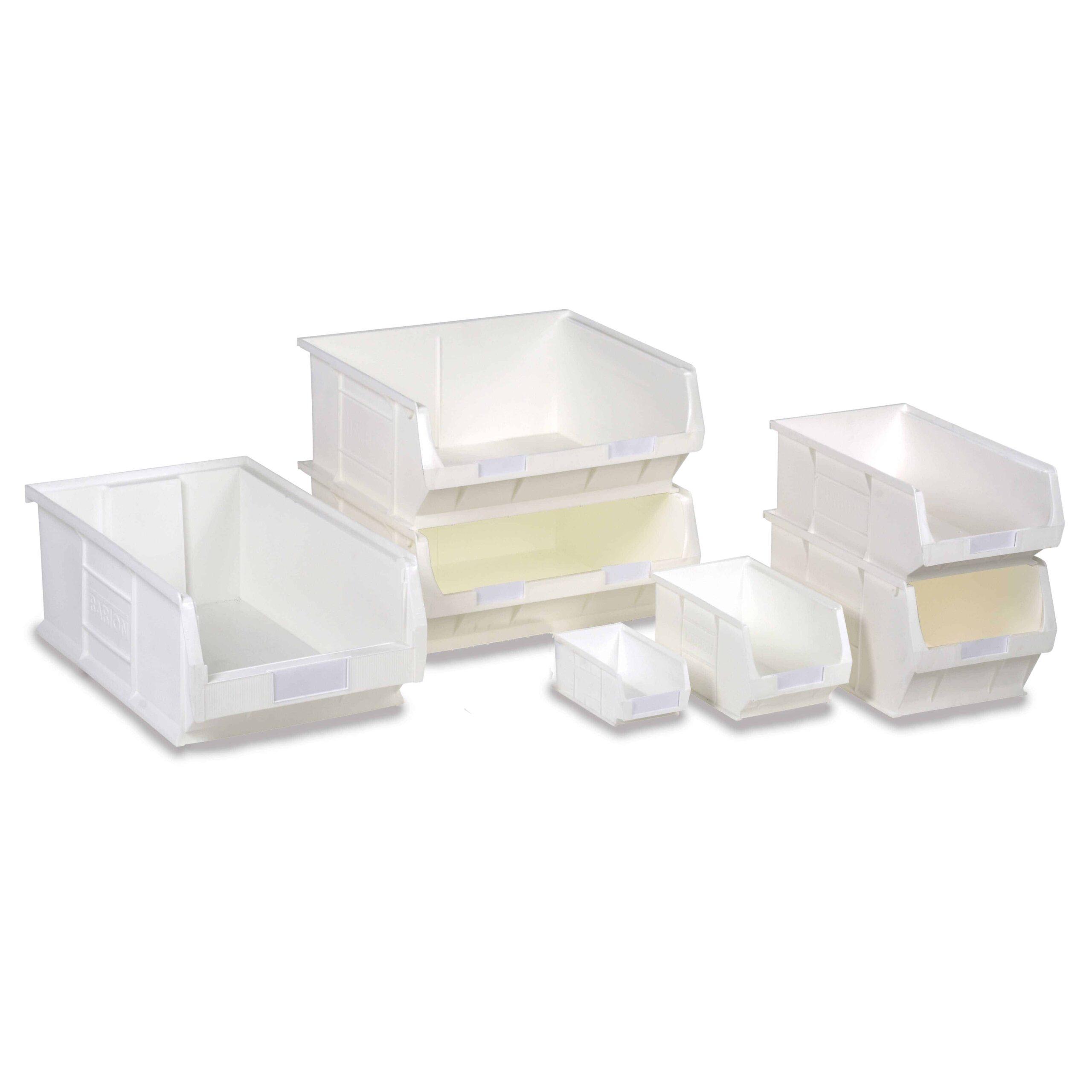 Barton White Antibacterial TC Bins