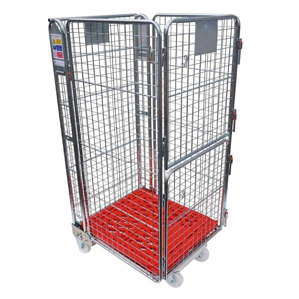 Four Sided Plastic Base Roll Pallet