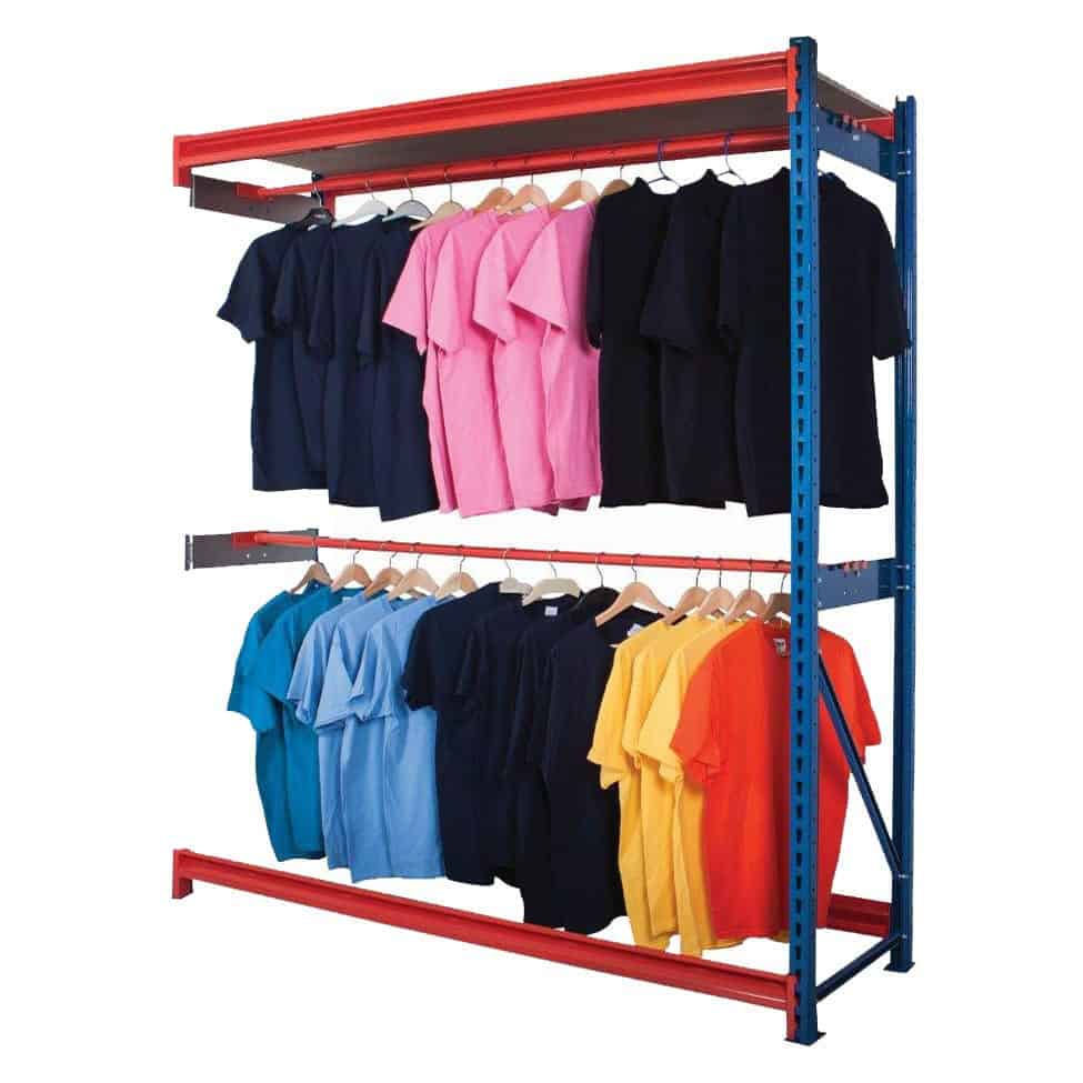 Longspan Central Garment Racking Extension Bay
