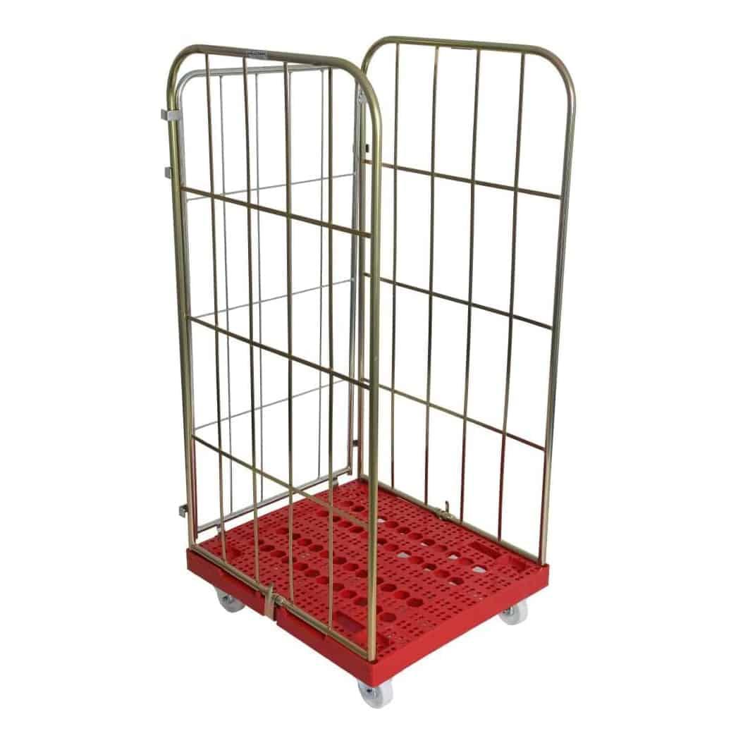 Plastic Base Demountable Three Sided Cage