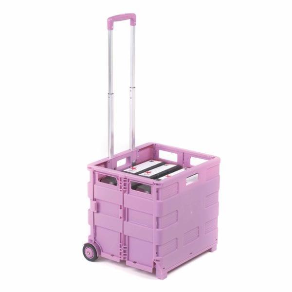 35kg Pink Folding Box Trolley