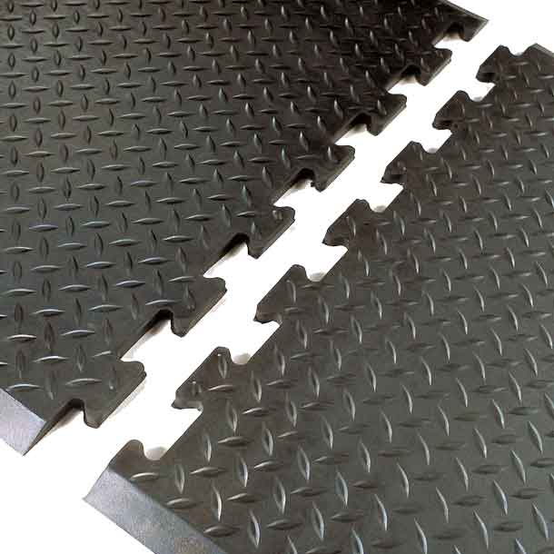 Diamond Interlock Rubber Mats