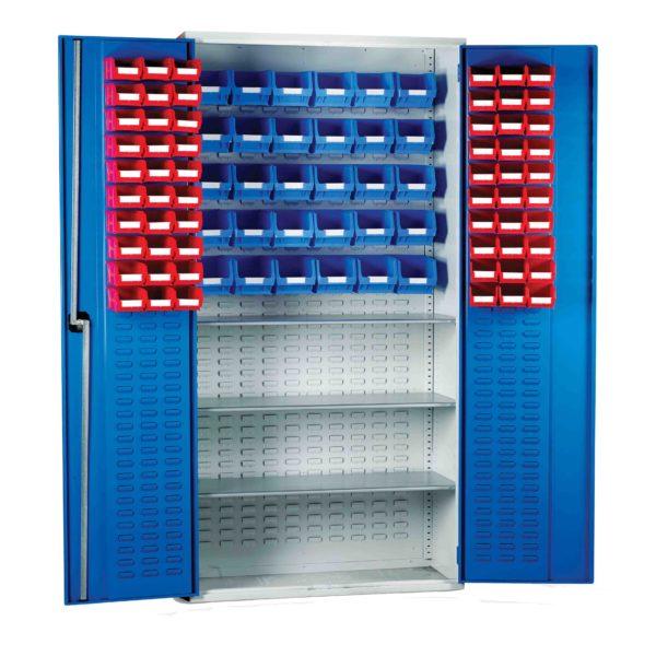 Louvred Panel Cabinet 140 TC Bin Kit