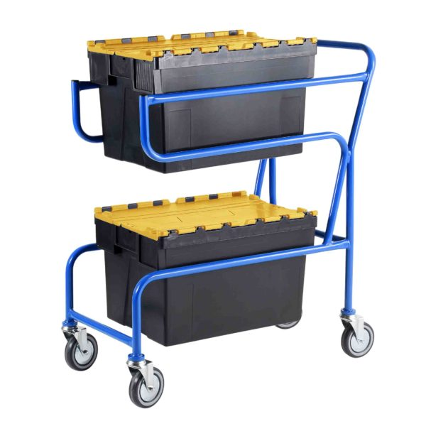 Multi-Trip Yellow Lidded Euro Container Trolley