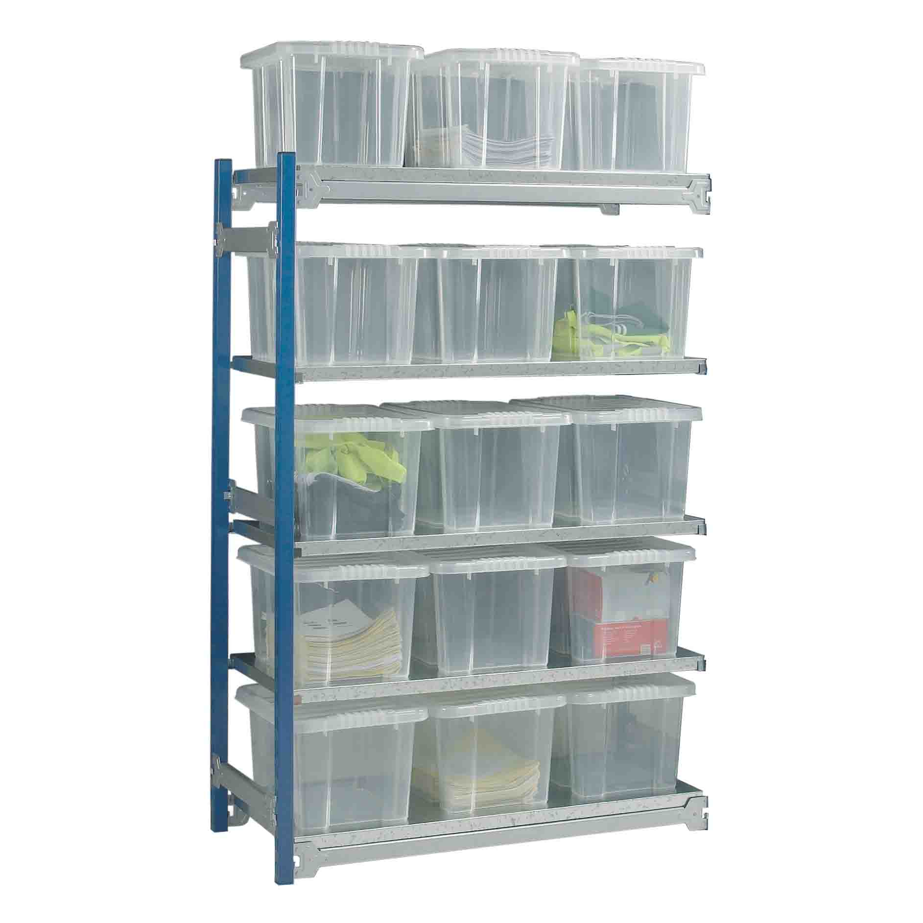 Toprax Shelving Extension Bay with 15 Containers