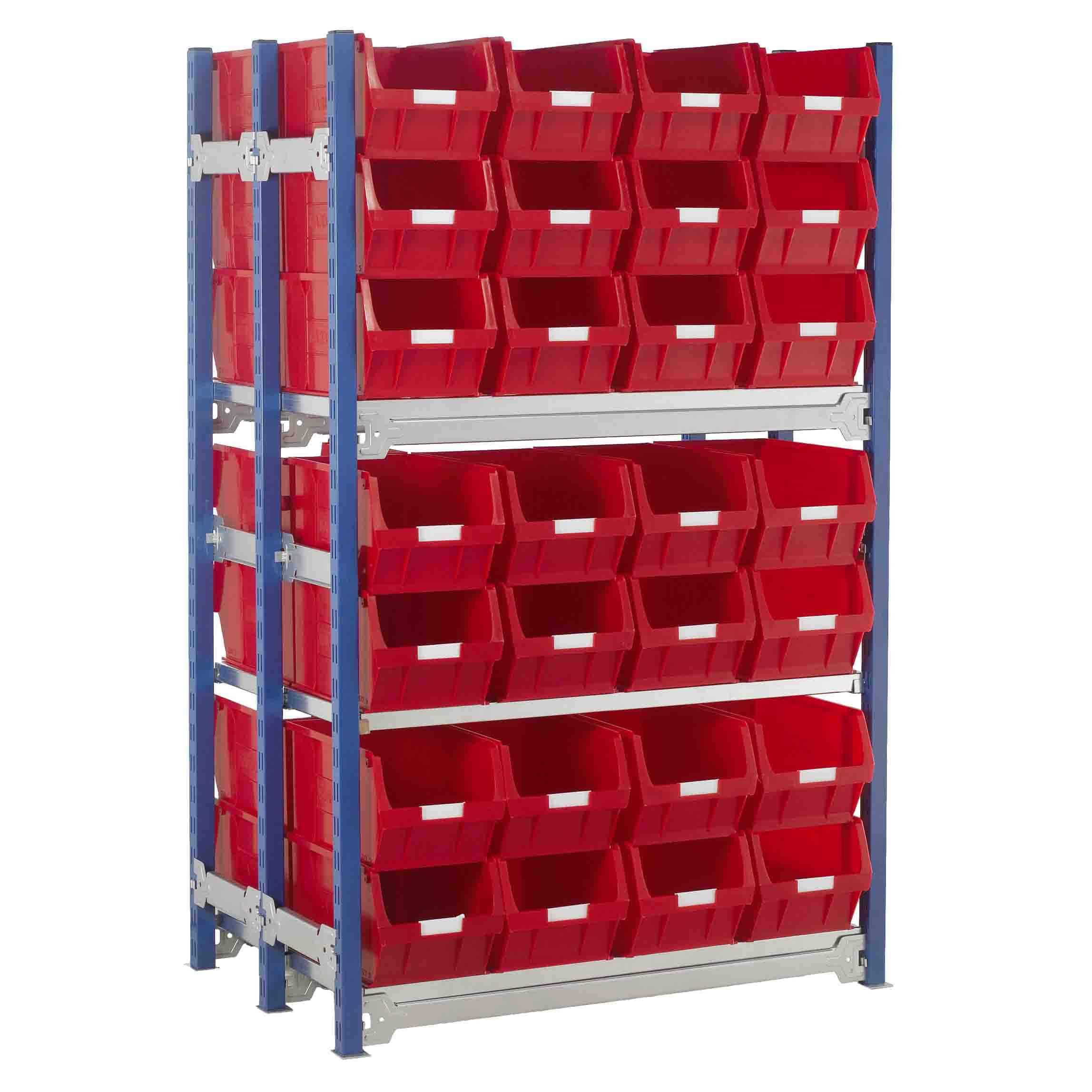 Toprax Shelving Double Bay with 56 TC5 Bins