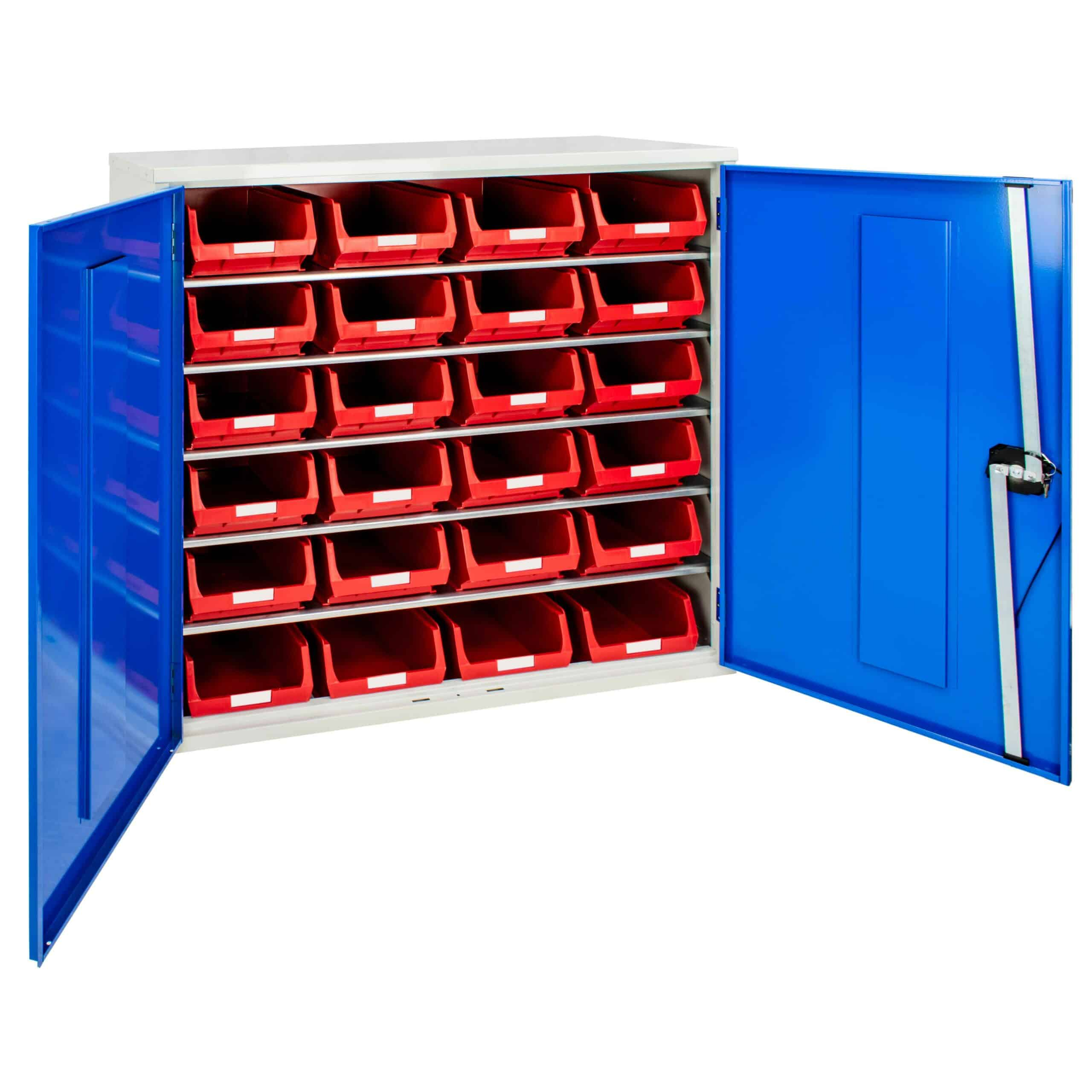 Container Cabinet with 24 TC4 Bins