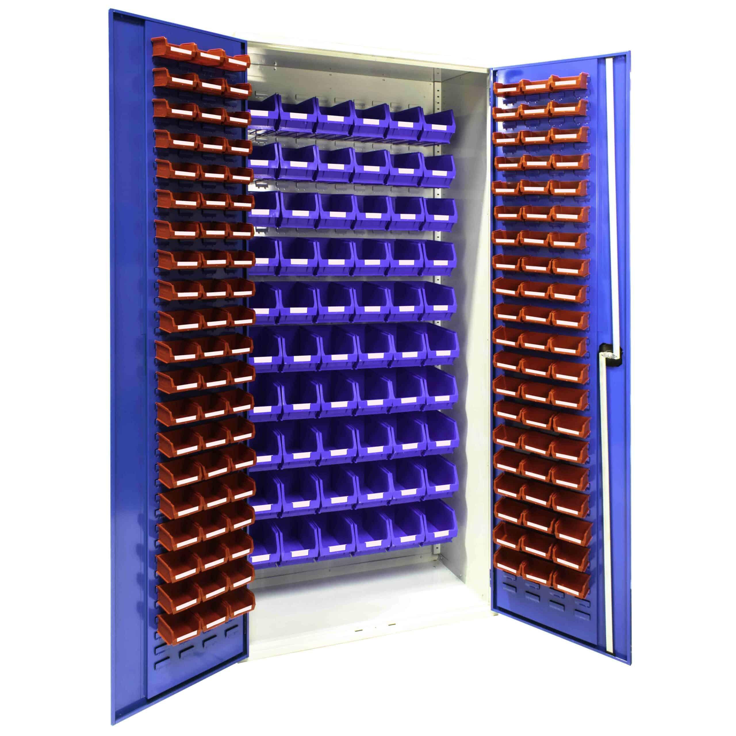 Louvred Panel Cabinet 120 x TC1 and 60 x TC3 Bins