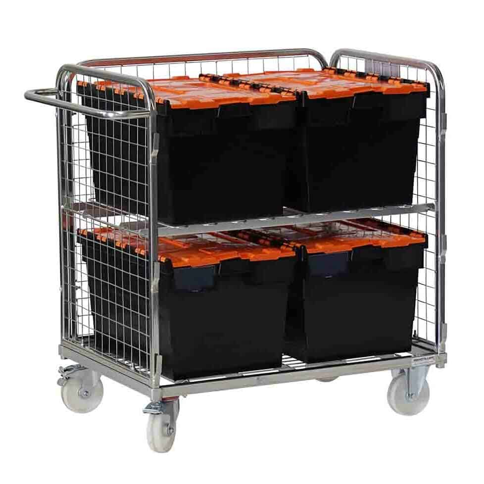 Three Sided Compact Picking Trolley