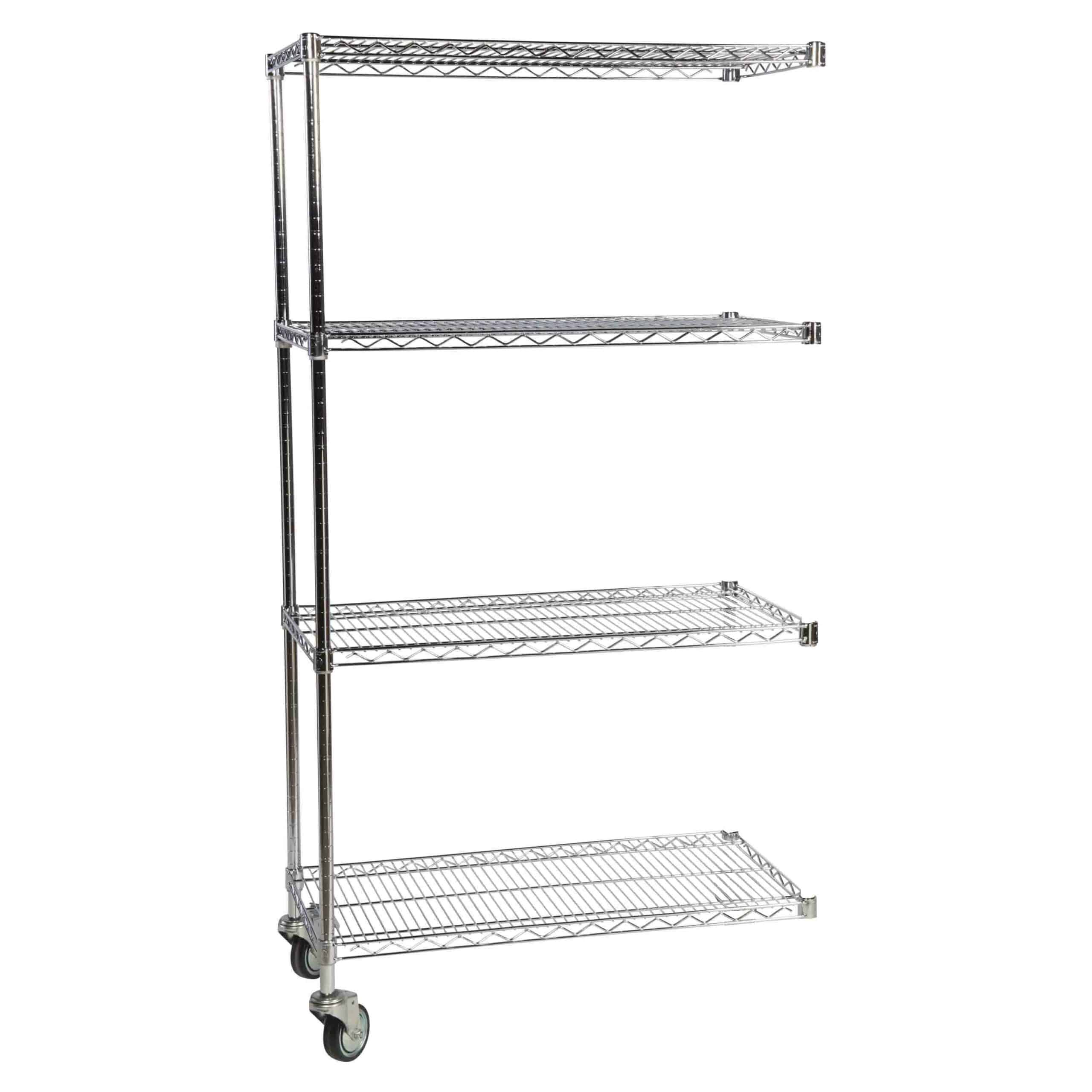 Mobile Chrome Wire 4 Tier Extension Bay